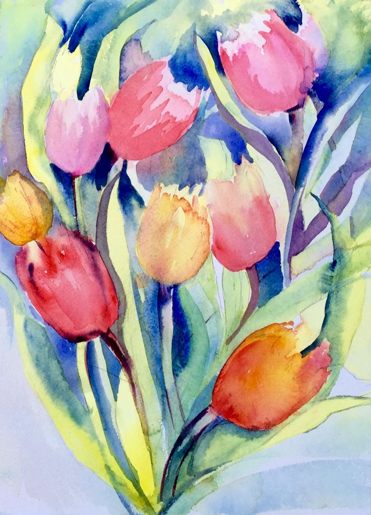Watercolour ..tulips