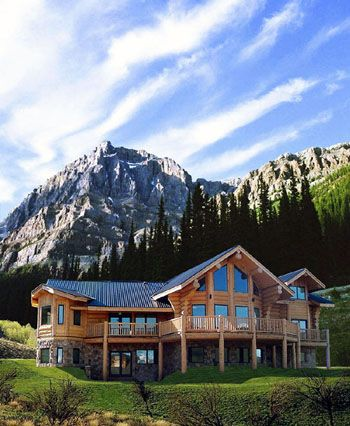 Log home builder home decor for Mountain dream homes