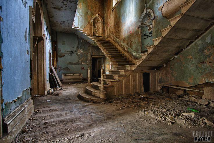 Entrance Hall - Lincolnshire County Pauper Lunatic Asylum