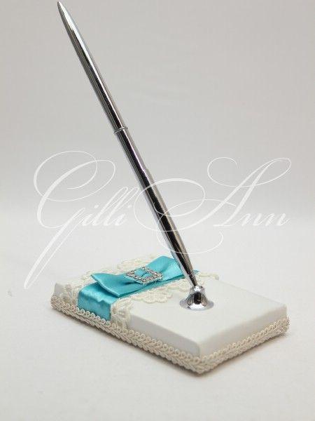 Свадебная ручка для росписи и пожеланий Gilliann Magic Biruza PEN017, http://www.wedstyle.su/katalog/anniversaries/wedding-pen, wedding pen