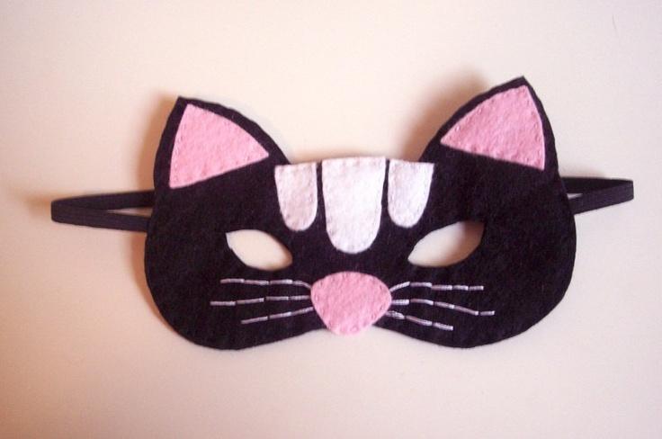 Black Cat Felt Mask for Children
