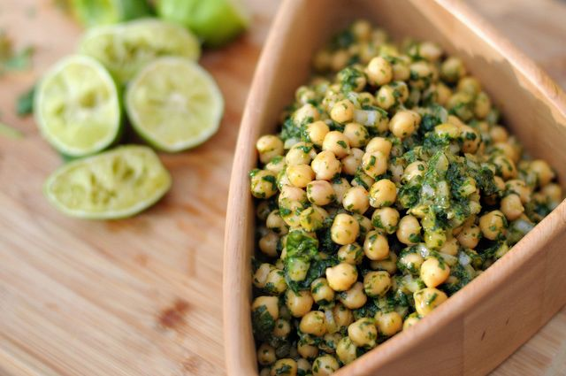 Cilantro Lime Chickpea Salad. Vegan