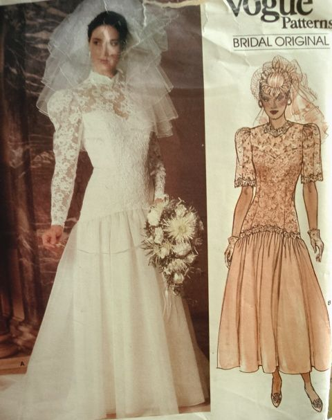 1980s Sewing Patterns Wedding Dresses