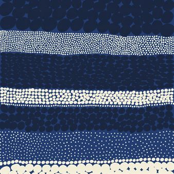 Jurmo stoff - blå- hvit - Marimekko