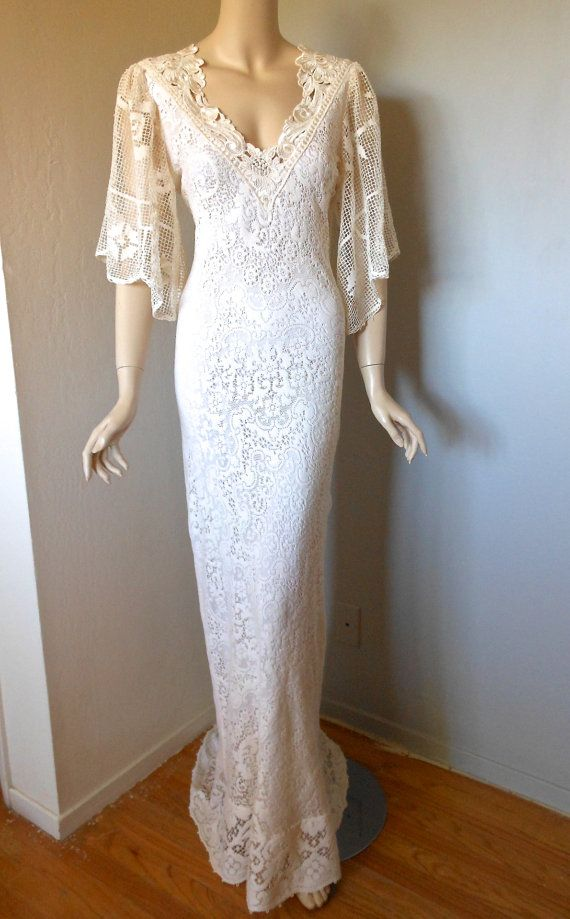243 best crochet wedding dresses images on pinterest for Crochet lace wedding dress pattern