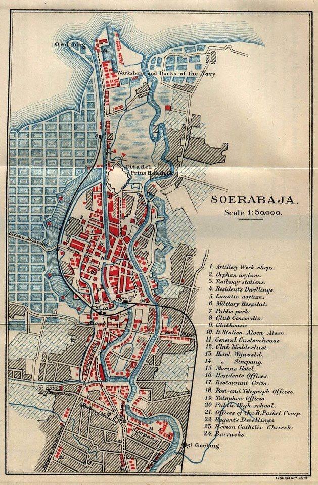 Map of Surabaya from an 1897 English