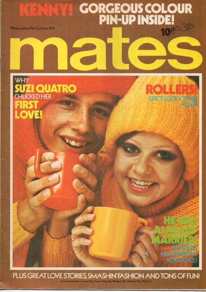 Mates Magazine 25 October 1975 The Bay City Rollers Kenny Suzi Quatro in Music…