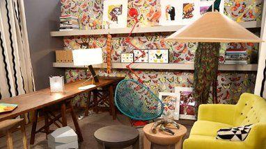 Le bureau atelier décoré par Bruno Moinard dans Teva deco