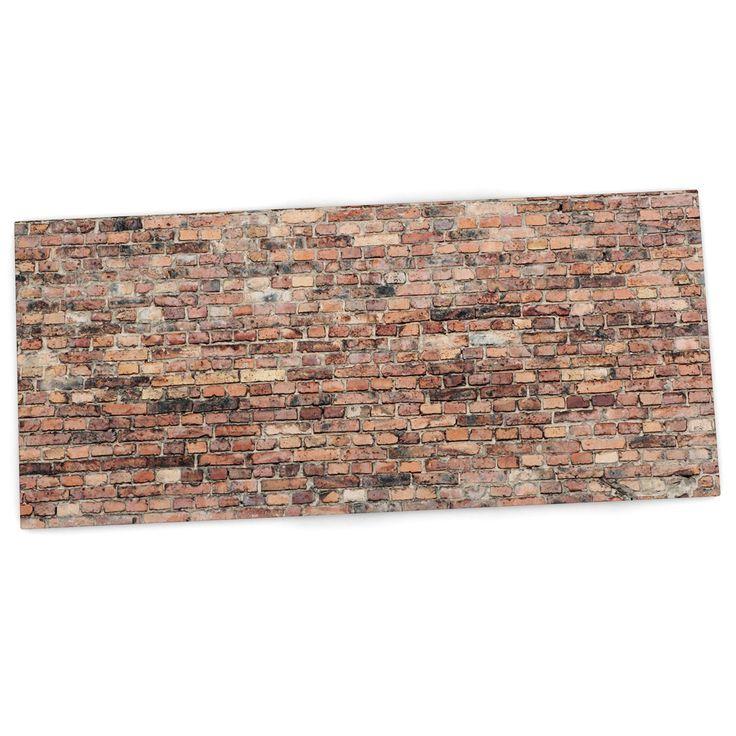 """Susan Sanders """"Rustic Bricks"""" Orange Brown Desk Mat"""