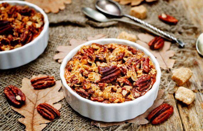 MINI Sweet Potato Casseroles With Brown Sugar Pecan Topping - Brooklyn Farm Girl