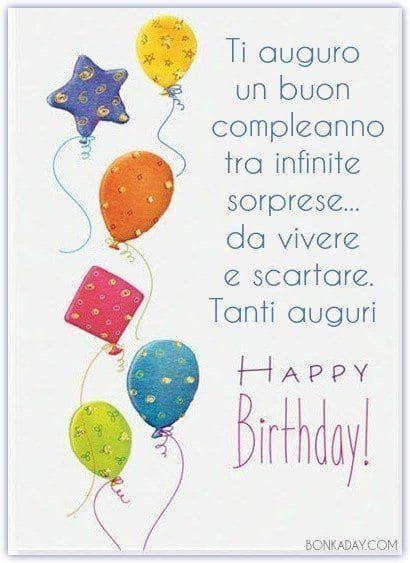 Ti auguro un Buon Compleanno tra infinite sorprese