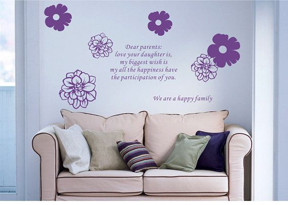 We Are A Happy Family Wall Stickers