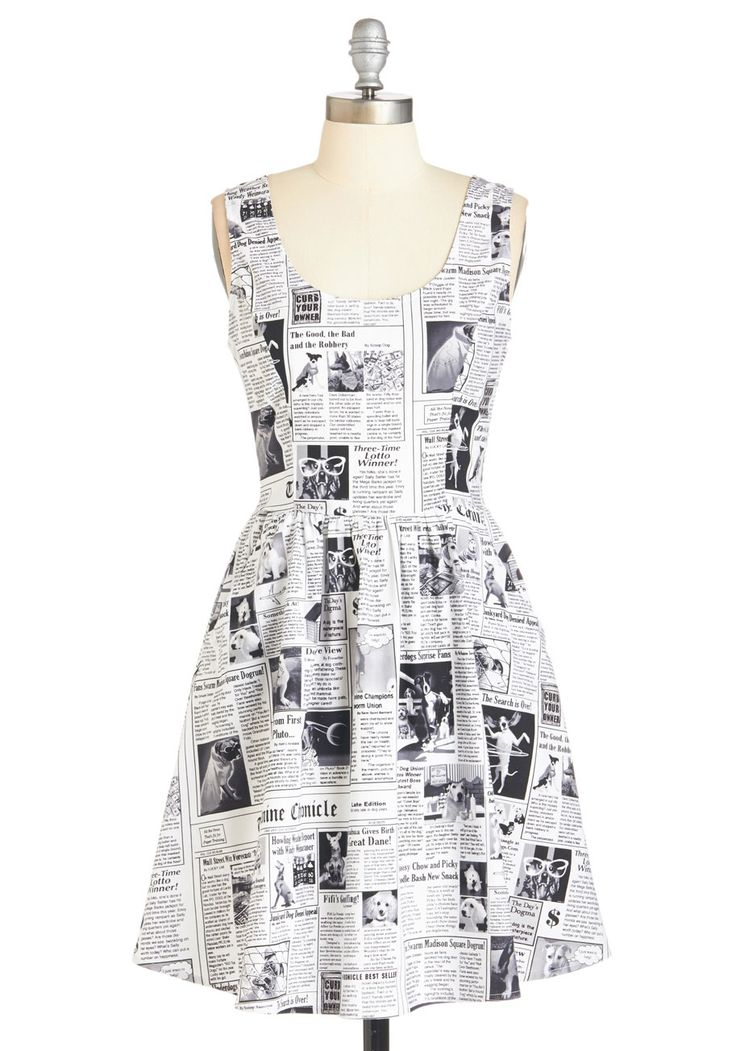 Start Spreading the Pooch Dress. Extra!  #modcloth @drizztfan89 you need!