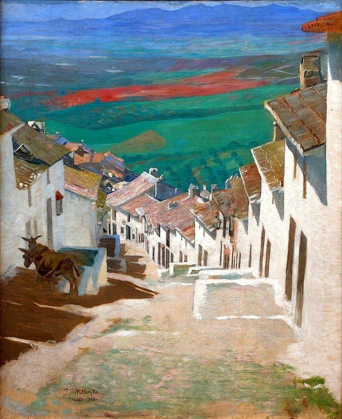 Street in Alora - Jens Ferdinand Willumsen   1889