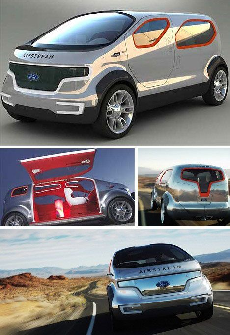 The Airstream concept Ford's been showing off lately looks both ways: its eco-friendly hybrid hydrogen fuel cell is most futuristic while the silvery style and iconic name harken back to the good old dust bowl days when hydrogen power was all the rage…