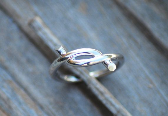 Love knot ring Silver knot ring by Wavejewels on Etsy