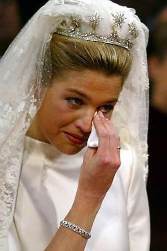 Princes Maxima moved to tears at her wedding with Prince Willem Alexander, 2002