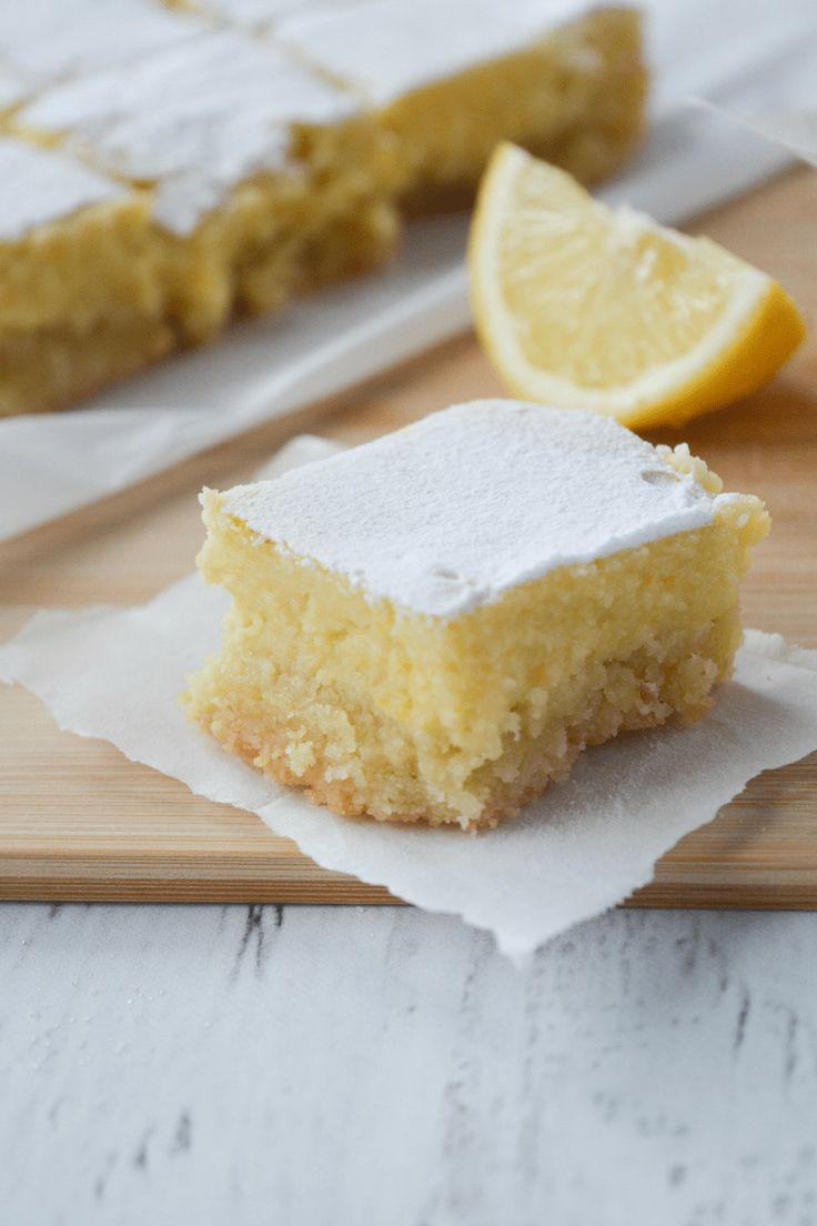 This recipe for keto lemon bars is an absolute low carb dream! With only 4g of net carbs per serving, you'll be happy to indulge in this bright and tangy treat without a shred of guilt!   heyketomama.com #ketorecipes