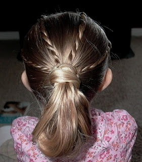 Shaunell's Hair: Little Girl's Hairstyles -Twist Braids into Pony Loop 10-15 min