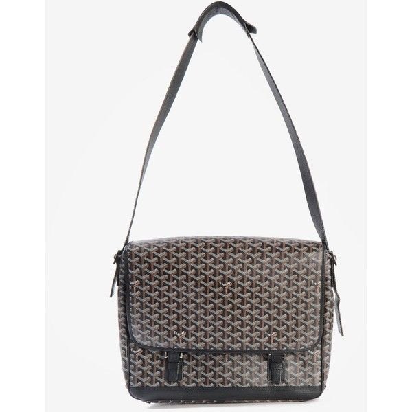 Goyard Messenger Bag ($1,890) ❤ liked on Polyvore featuring bags, messenger bags, goyard messenger bag, goyard bags, leather bags and courier bags