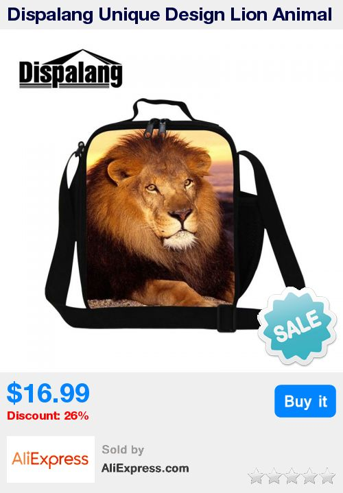 Dispalang Unique Design Lion Animal 3D Printing Lunch Cooler Bags For Adult Work Portable Thermal Children Lunchbox Food Bag * Pub Date: 10:40 Sep 22 2017