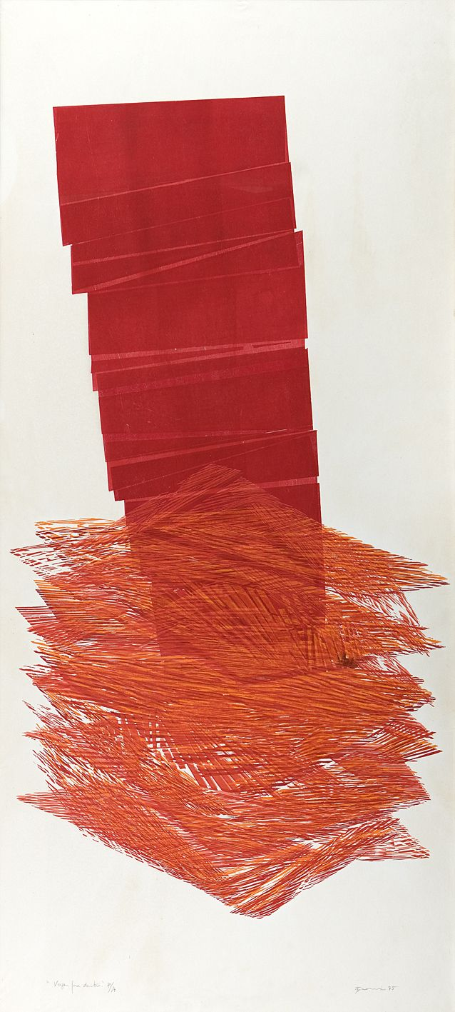 Viagem para Dentro 1975 | Maria Bonomi xilogravura, c.i.d. 160.00 x 86.00 cm Banco Itaú [BFB]