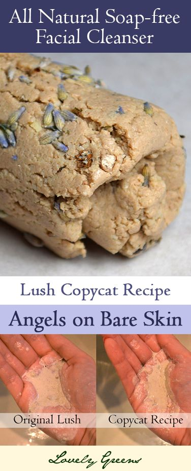 Recipe for a Gentle Facial Cleanser based on Lush's 'Angels on Bare Skin' ,  Heidi Jayne