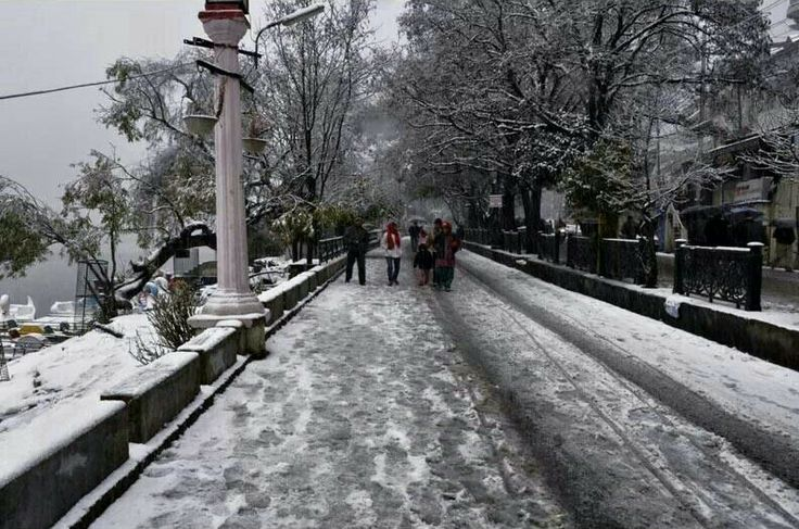Snowfall in nanital