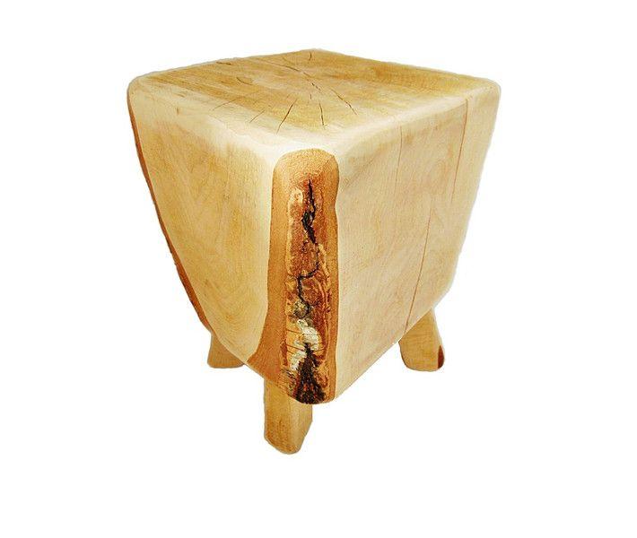 stołek drewniany z pnia, pieniek, stolik - SkandiDekor - Krzesła, wooden stool, tree stump