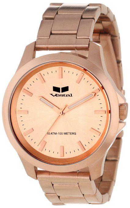 Vestal Unisex HEI3M05 Heirloom Rose Gold Watch: Watches: Amazon.com only $108