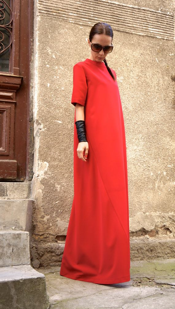New Collection XXLXXXL Maxi Dress / Red Kaftan / от Aakasha