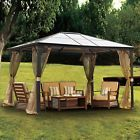 Metal steel Hardtop Gazebo 10x12 Canopy Outdoor Patio Furniture Sun Shade Tent
