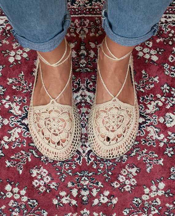 Crochet Shoes Natural Earth by LuluduDesign on Etsy