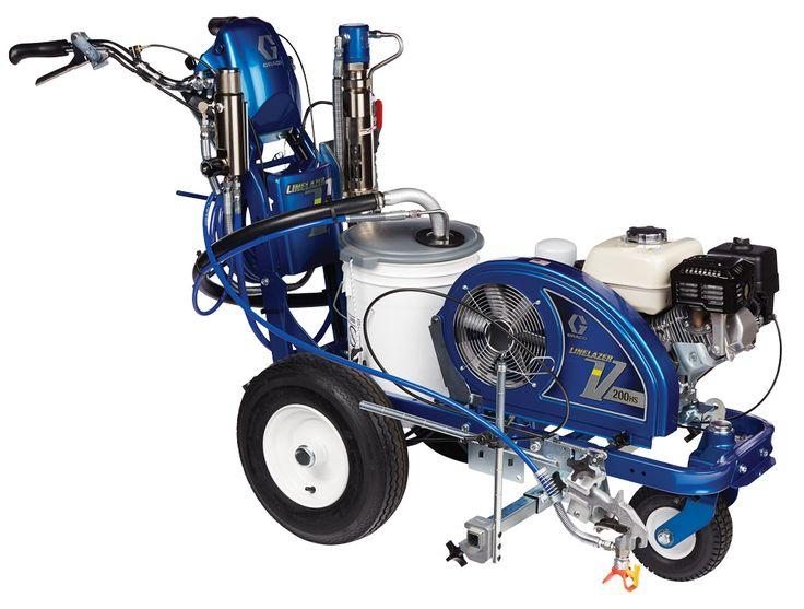 Appareil de traçage à peinture Graco LineLazer V 200HS Standard avec moteur hydraulique pour les professionnels du marquage au sol