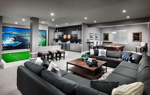 modern game room design ideas basement pinterest basement man rh pinterest com