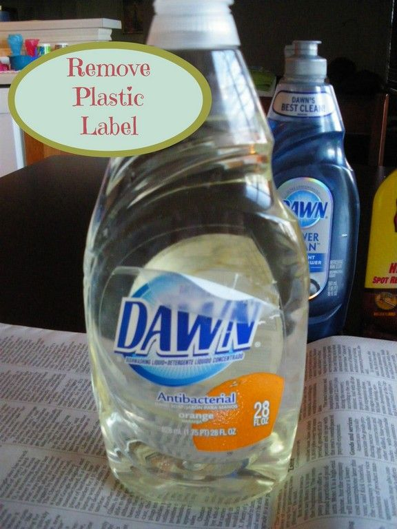 How To Remove Plastic Adhesive Stickers From Bottles Containers