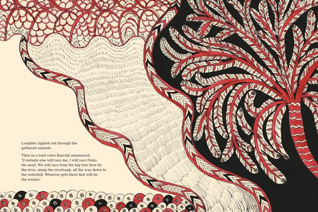 The Great Race: An Exquisite Tale of Forest Creatures Illustrated in the Style of Indian Folk Art | Brain Pickings: Style, Book