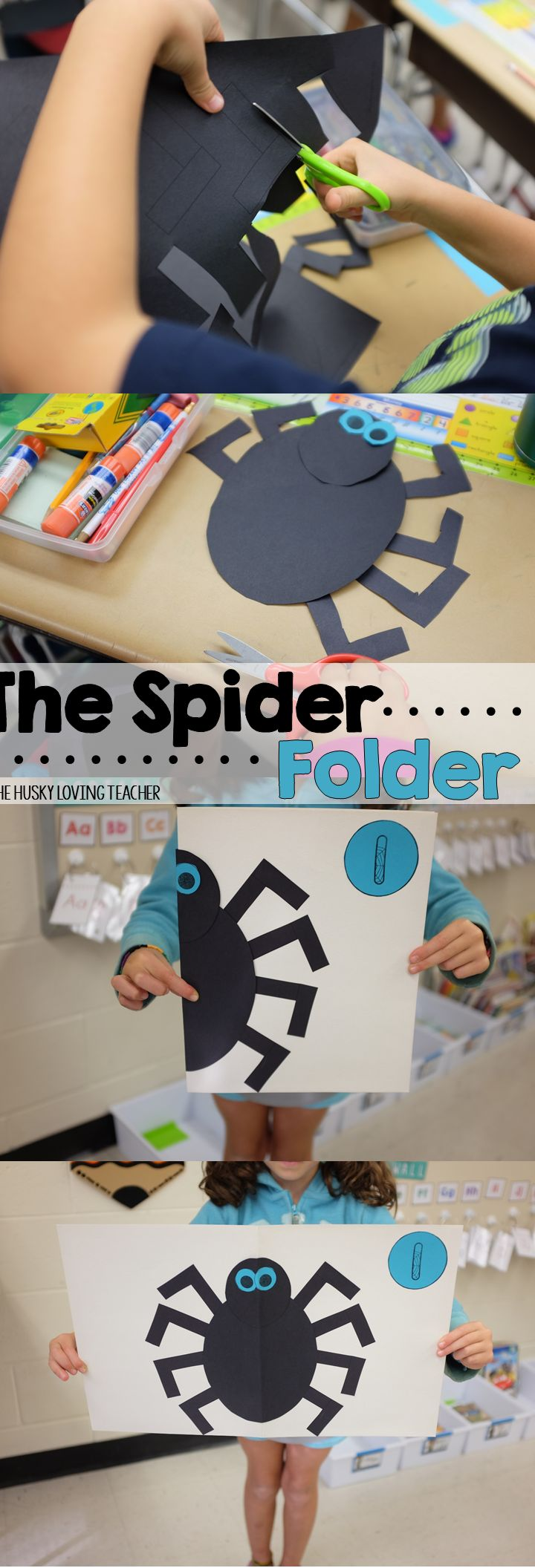 Have your students keep their spider research (worksheets, flipbooks, pictures) inside of this fun folder! [Resource from: The Husky Loving Teacher]