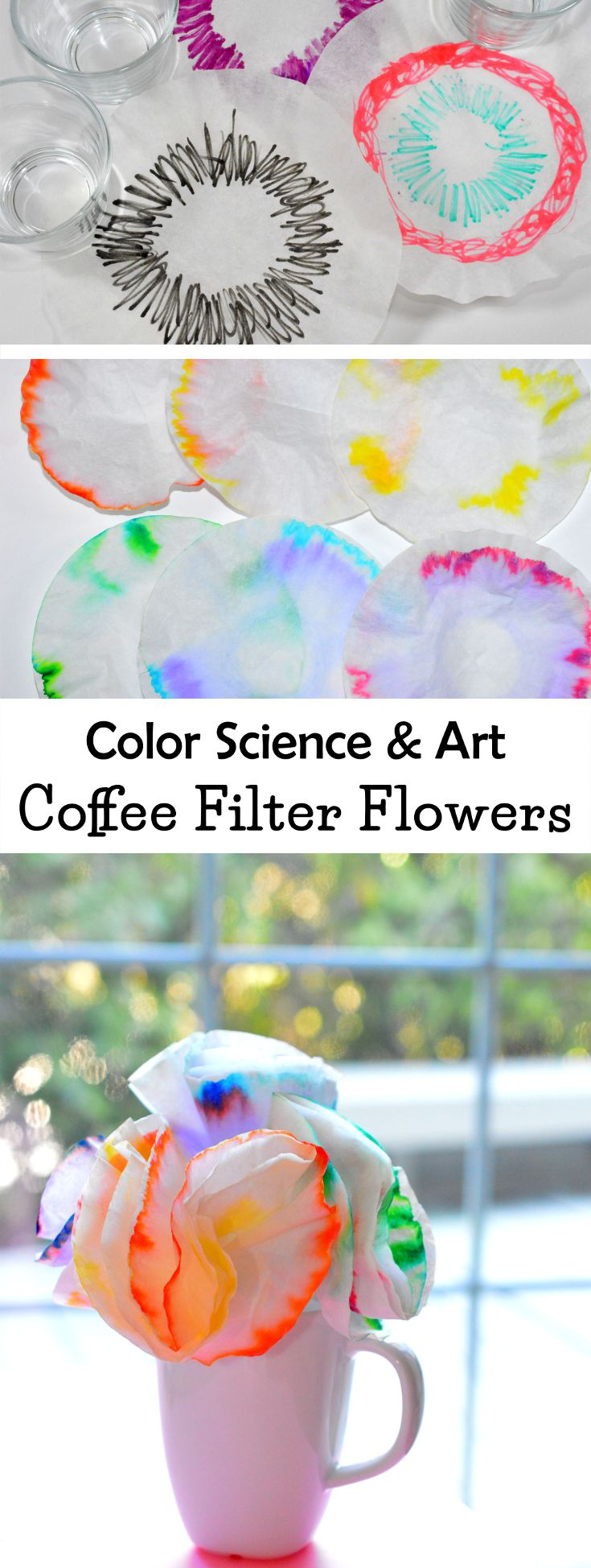 Science & Art For Kids: learn what paper chromatography is and what each color is made up of. This activity makes a fun craft project, too!