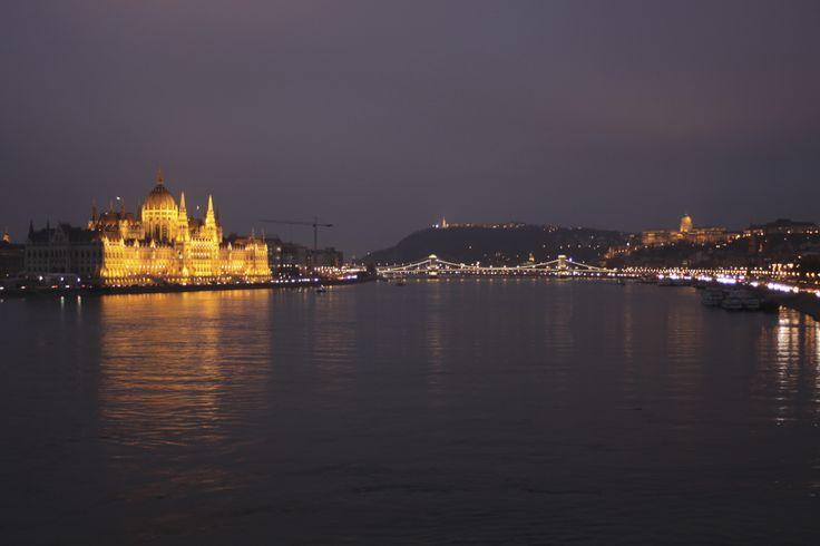 The House of Parliament in the evening. Budapest, Hungary. Photo: Ida-Liina Huurtela