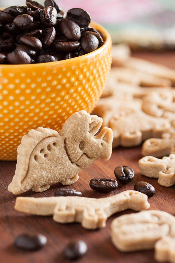 These espresso shortbread rollout cookies are soft and tender, subtly sweet, with a lovely espresso flavour.
