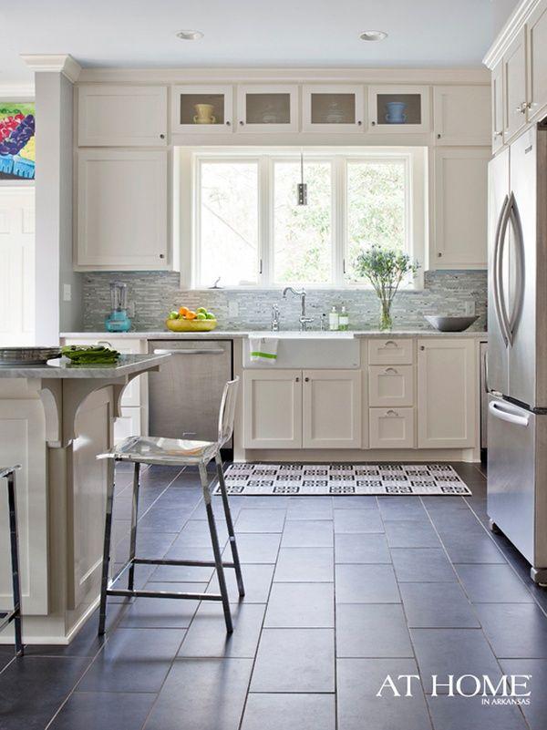 17 best slate floor room designs images on pinterest - White Kitchen Floor Tile Ideas