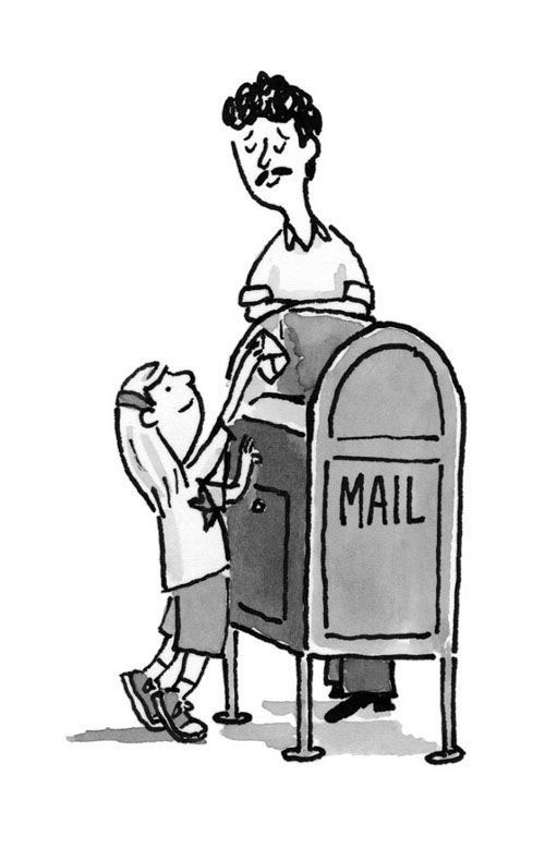 Eleanor and her dad are mailing a letter to Bibi.