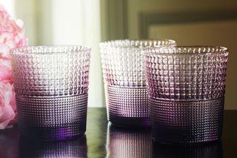 Carafe et service de verres, Casa Lopez, collection Speedy verre à eau améthyste, casalopez.com