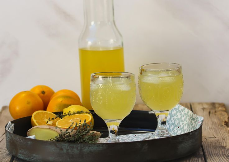Sinaasappel-gember limonade met tijm - Powered by @ultimaterecipe