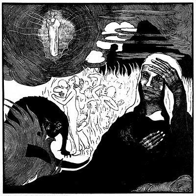 Graphic Art of Czech artist Josef Vachal