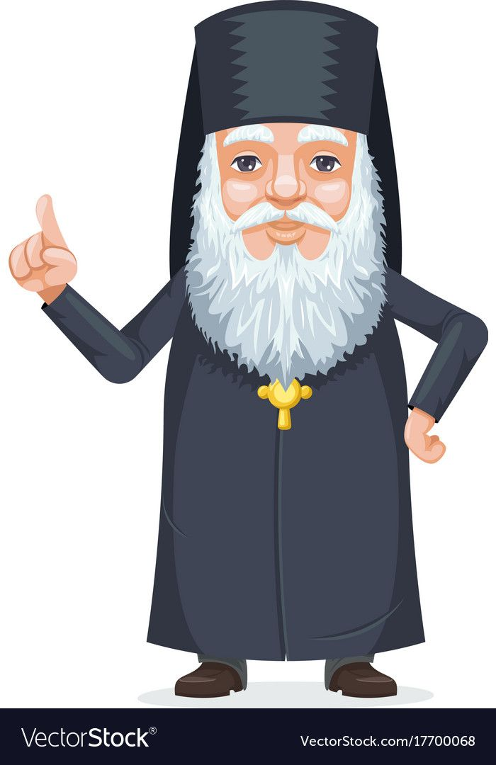 Christian Orthodoxy Priest Beard Old Mystery Wise Man Secret Knowledge Traditional Costume Cartoon Character Vector D Illustration Design Vector Design Cartoon