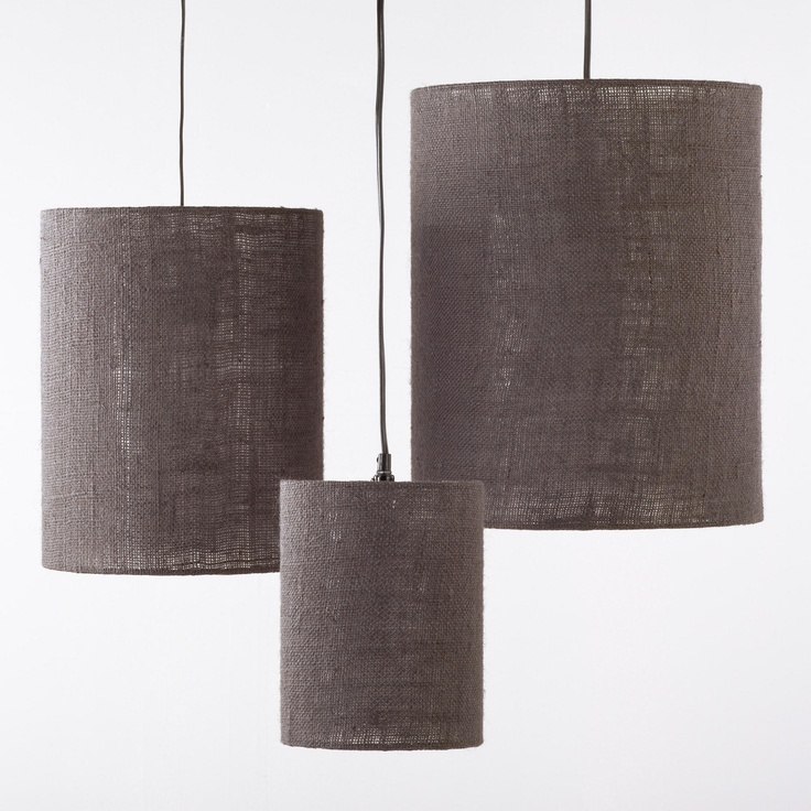 Grey irving burlap shades set of 3 59 99 · burlap lamp shadesindustrial lightingkitchen
