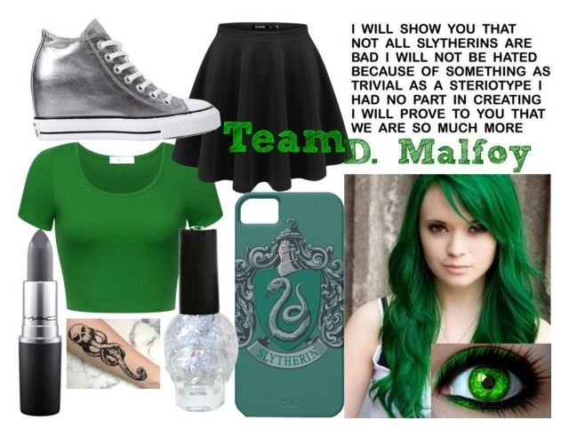 Draco Malfoy by makenzi-sixx on Polyvore featuring mode, Converse and MAC Cosmetics