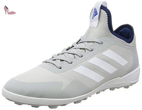 adidas Ace Tango 17.2 TR, Chaussures de Football Homme, Blanc (Crystal White/Silver Metallic/Blue), 47 1/3 EU
